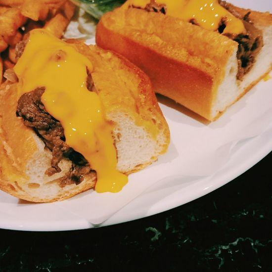 Hi~紐約客,牛排喬巴達三明治✨。 Sandwich Lunch Yummy Dinner Food Chiba 吃吧 Cheese