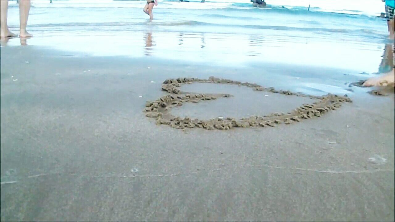 Heart Beira Mar Cute♡ Sun Beach Sand Sea Photo
