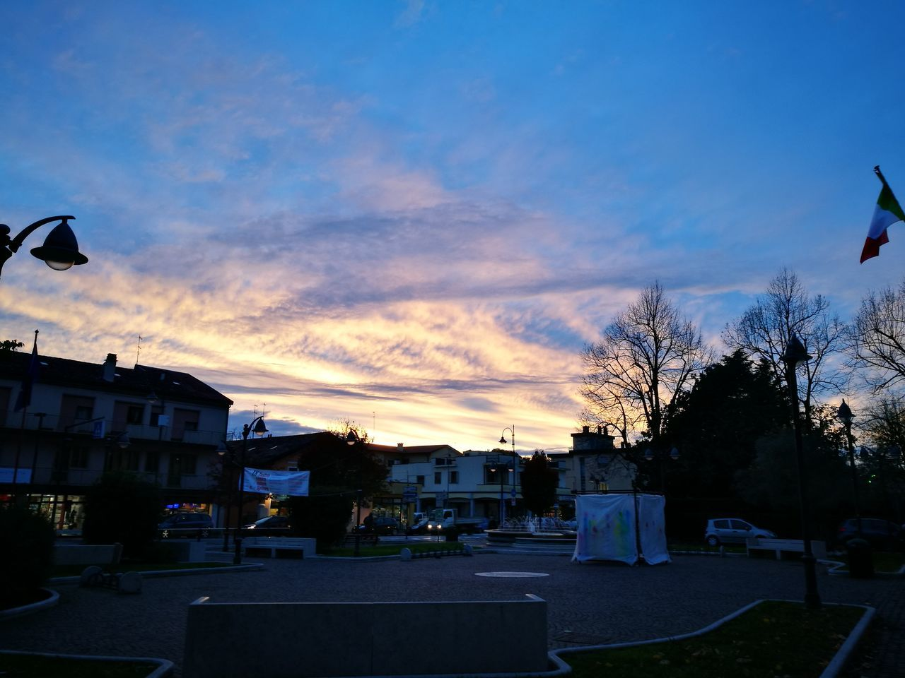 building exterior, architecture, built structure, house, sky, residential building, outdoors, tree, sunset, cloud - sky, no people, town, city, nature, day