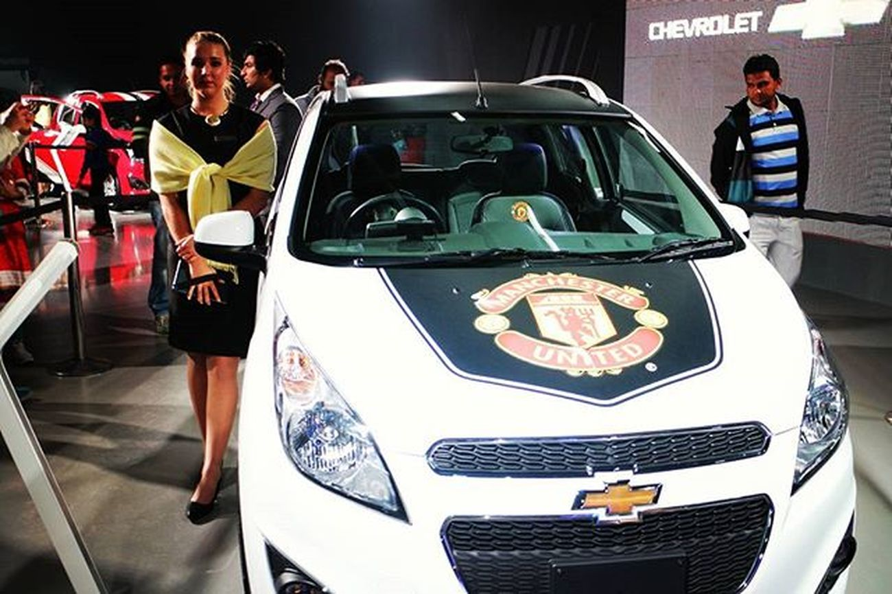 @chevrolet Beat with Man Utd FC..... @manchesterunited Chevroletindia Manchesterunited Oyemyclick Picoftheday Photooftheday Proudtobeindian Instapic India DelhiGram Indianroads Greaternoida SmallButMighty RedDevils Autoexpo2016 Themotorshow
