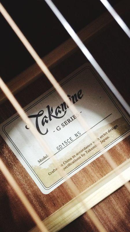 Coração da música 6string Acoustic Guitar Musician Takamine Dreadnought