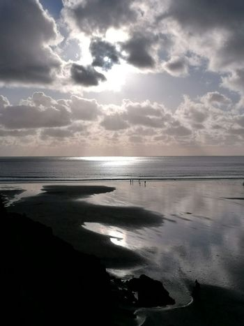 Beach Sea Sand Landscape Cloud - Sky Dramatic Sky Sun Horizon Over Water Water Travel Destinations Nature Tranquility Reflection Sunlight Scenics Tranquil Scene Sky Silhouette Vacations Sunset Caswell Bay Caswell Bay Gower Gower Peninsular South Wales Gower Peninsula