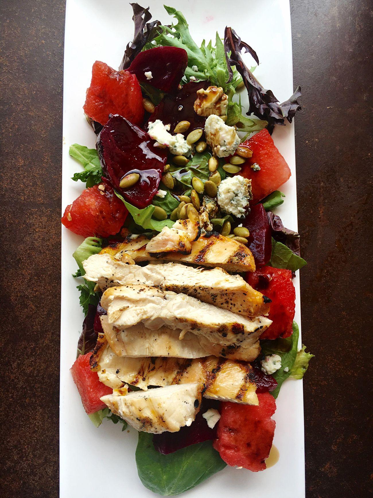 Food Photography Foodie Food Art Salad Beets Watermelon Feta Seeds Lettuce Chicken Salad Gourmet