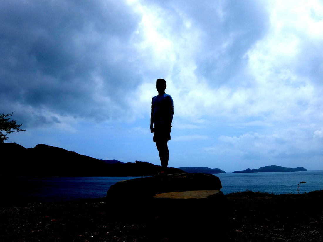First Editing Attempt. (Shadow) Cloud Beauty In Nature Nature One Man Only Picasa Shadow Silhouette Standing