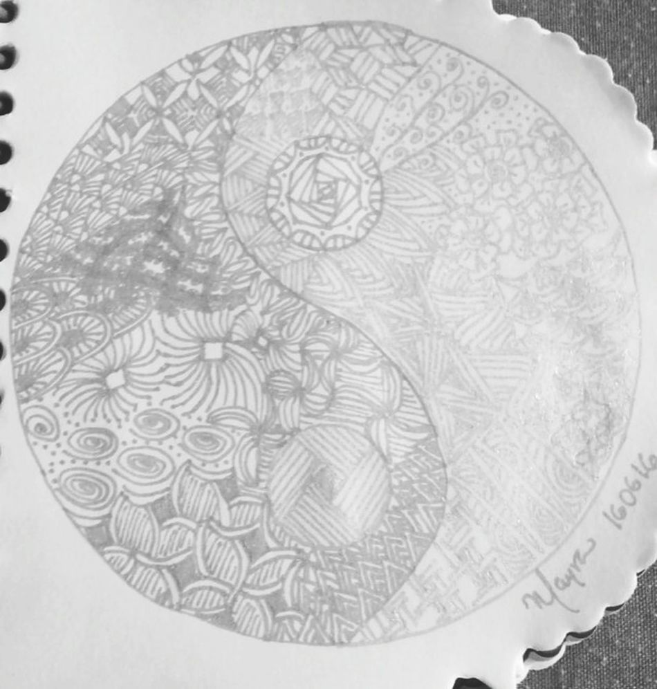 Black And White Black And White Collection  Blackandwhite Photography Zentangle Zentangleart Doddles Patterns Artist Art, Drawing, Creativity Yin Yang Taking Photos