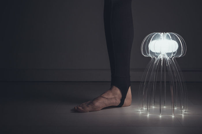 Low Section Human Leg Standing One Person People Human Body Part Close-up Minimalism Lighting Equipment Light Light And Shadow Portrait The Portraitist - 2017 EyeEm Awards One Man Only Illuminated Black Background Jellyfish Jelly Fish Lamp BYOPaper! Place Of Heart Out Of The Box Rethink Things
