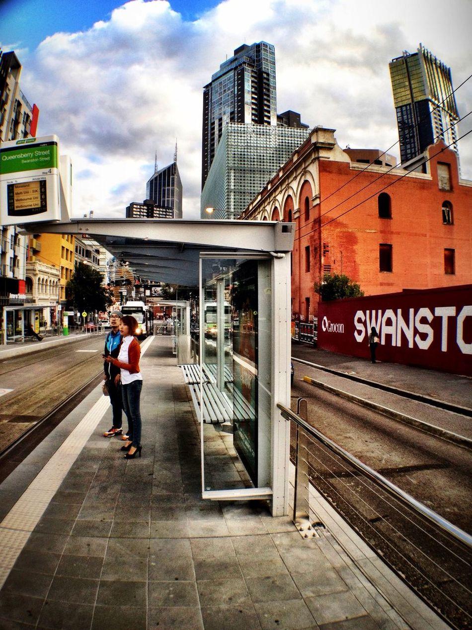 Waiting at Tram Stop 4 (1/3/3a/5/6/8/16/64/67/72) Waiting
