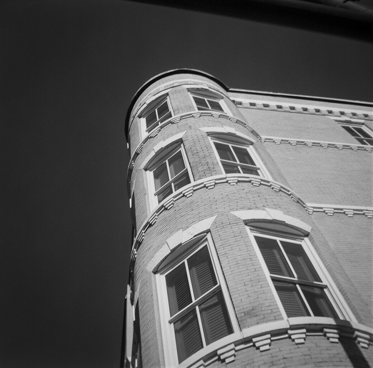 Architecture Blackandwhite Photography Building Exterior Built Structure Clear Sky Clock Day EyeEm Gallery Kodakbrownie Low Angle View No People Outdoors Sky Window