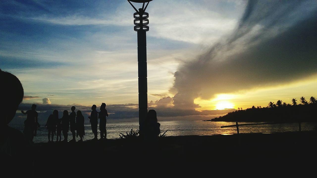 Sunset Silhouette Cloud - Sky Sky People Travel Destinations Nature Outdoors Baywalk Philipines Baywalk Park EyeEmNewHere EyeEm Nature Lover