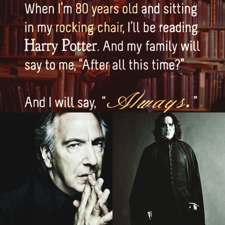 Rest In Peace ❤ Alan Rickman Professor Snape💔💙⚡