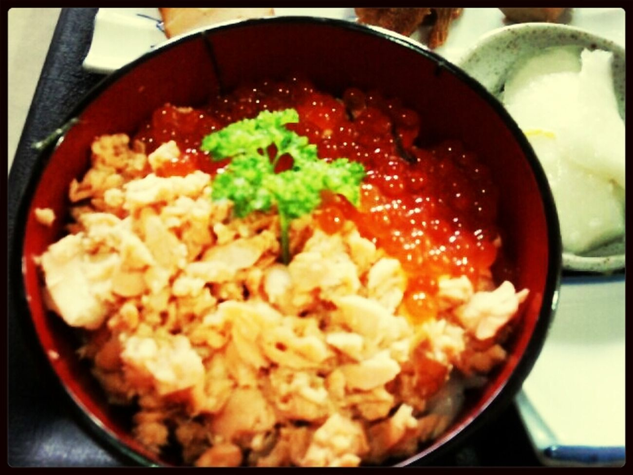 鮭イクラ丼美味しかった♡ Lunch First Eyeem Photo