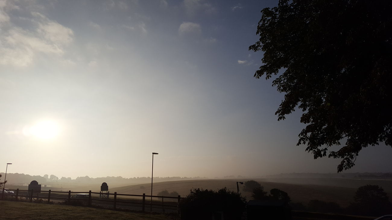 Summer Outside Outdoors Taking Photos From My Point Of View Epsom Downs Racecourse Clouds Dawn Morning Good Morning Sky Epsom Downs Mist