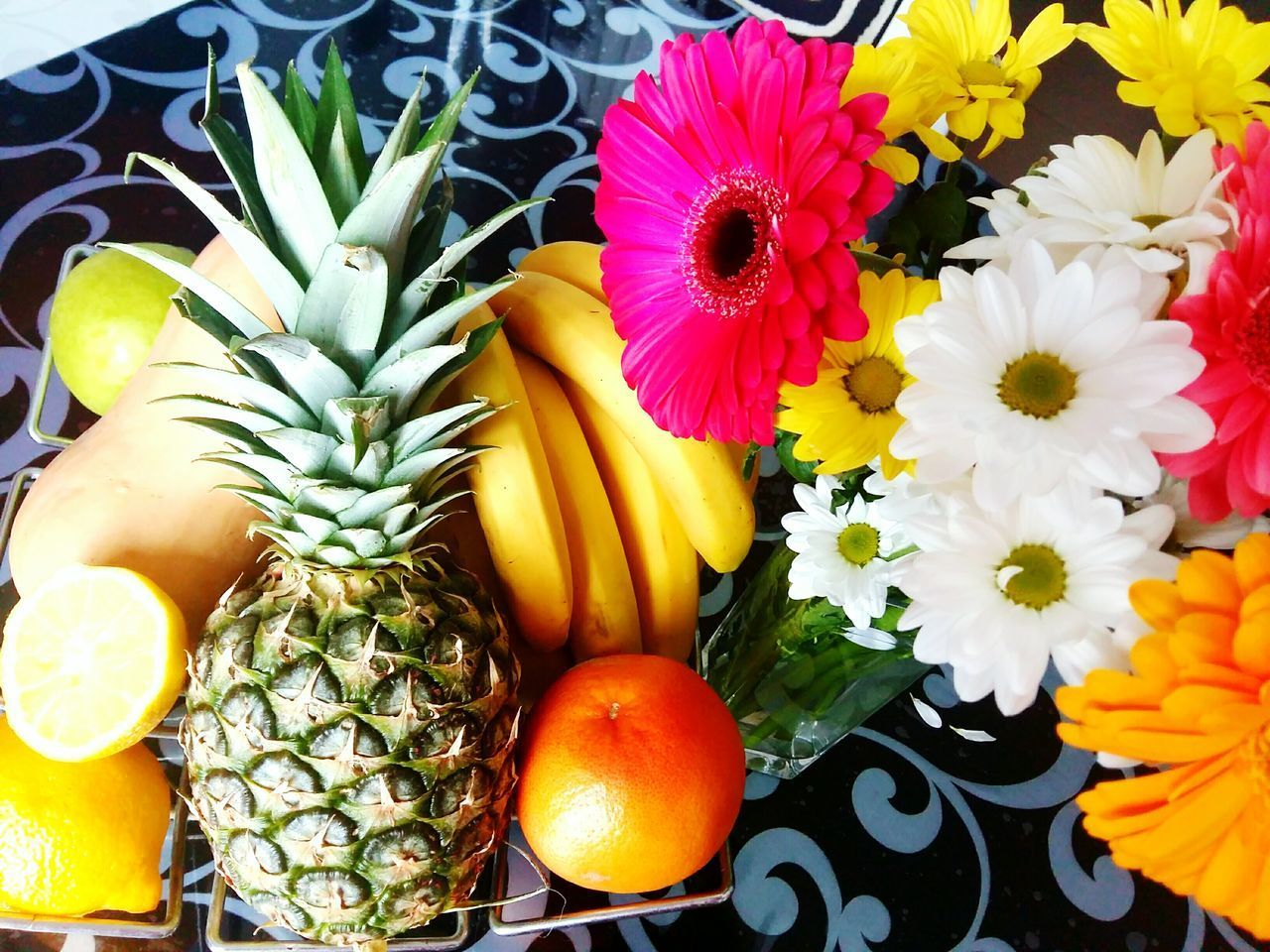 freshness, flower, variation, multi colored, choice, banana, fruit, yellow, no people, retail, healthy eating, beauty in nature, indoors, day, food, flower head, fragility, close-up, nature