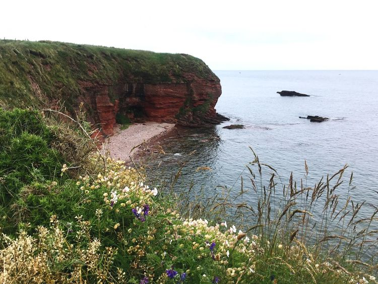 Red Cliffs Scotland Landscape From My Point Of View Beautiful View Idyllic Scenery Landscapes Sea View Coastline View From Above Neighborhood Map