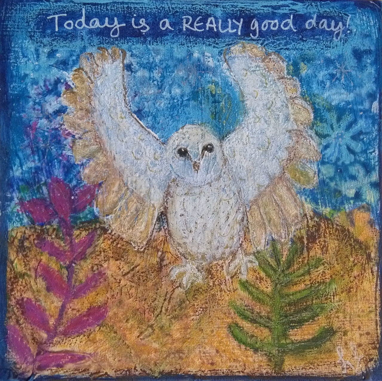 Imagine 'Living life in peace' Saturdaysong_eyeemchallenge Today Is A Really Good Day Heather Fifield Art Painted Birds Skwirrel Heaven Getting Inspired Love Peace Following My Bliss White Bird Owl Life Is Magical