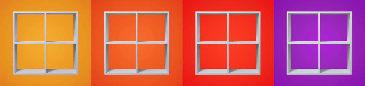 Colors Abstract Art Artful Colors Colours Consonance Different Frame Framework Happy Harmonic Harmony Modern Orange Rack Red Shadow Shelf Square Still Life Things Violet White Window Yellow