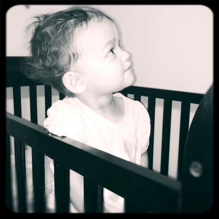 Beautiful <3 Black & White Portrait Kids 22 Months