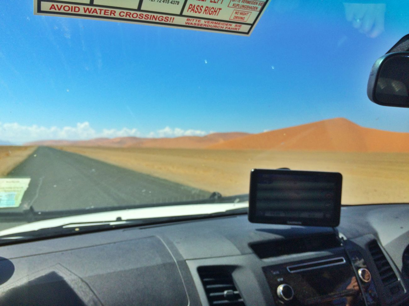 On Our Way to Sossusvlei Blue Sky Nambwzanam15