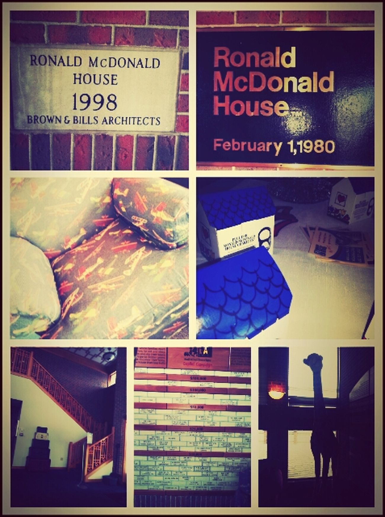 Ronald McDonald's House early : )