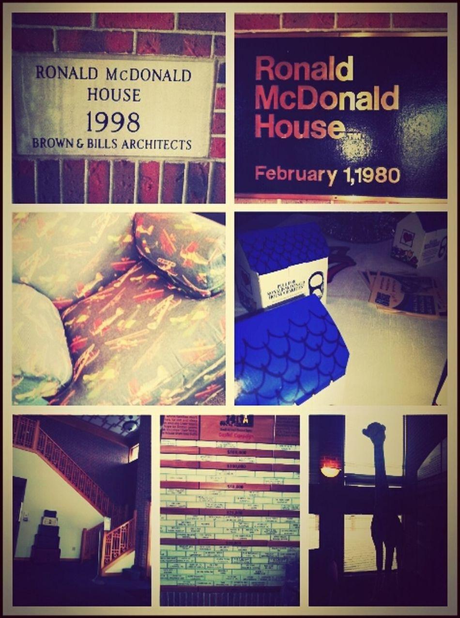 Ronald McDonald's House early : )