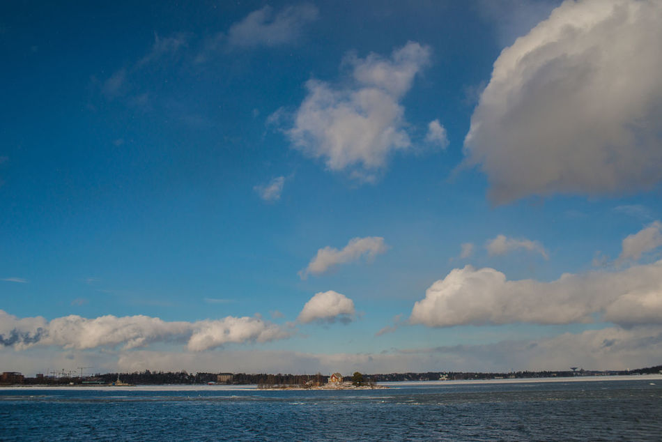 Beauty In Nature Blue Cloud - Sky Day Gulf Of Finland Nature No People Outdoors Scenics Sea Sky Tranquil Scene Tranquility Water Winter