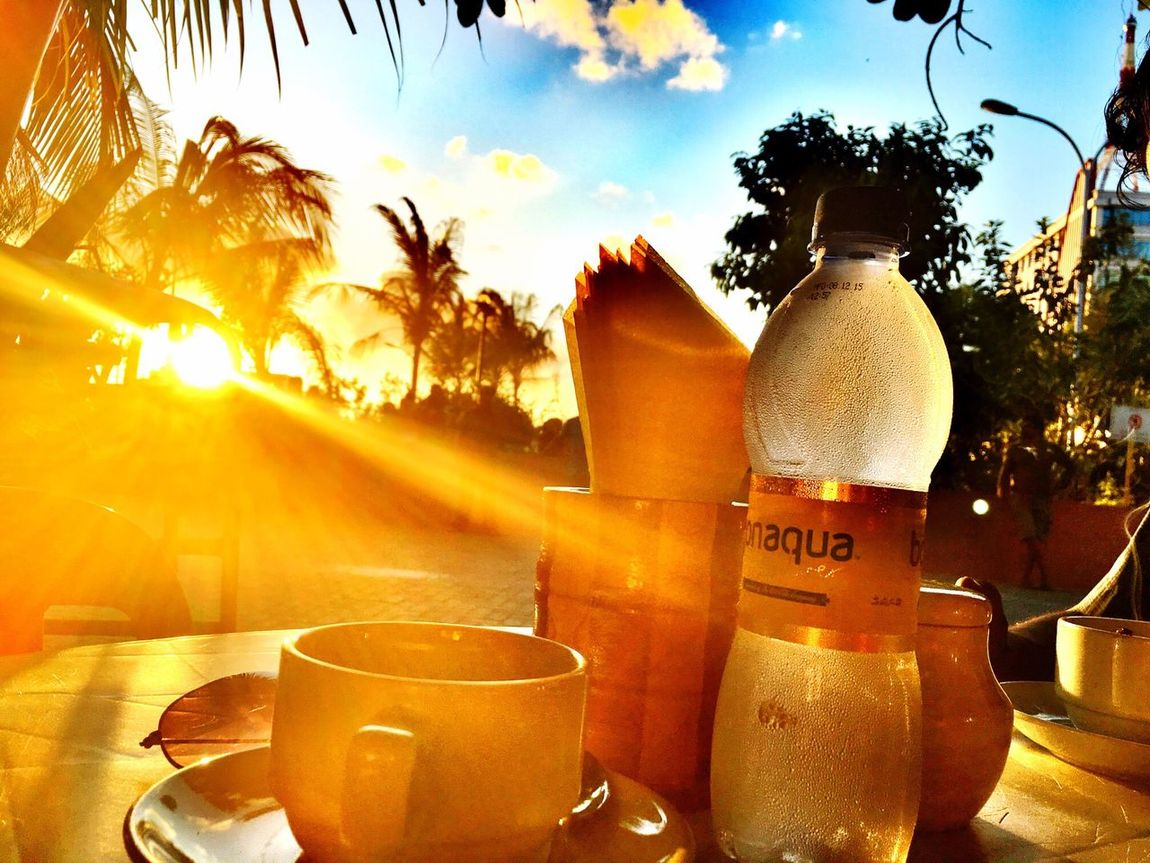 Enjoying The Sun🌅🌞 IPhoneography Amazing View Male'city Coffee Time