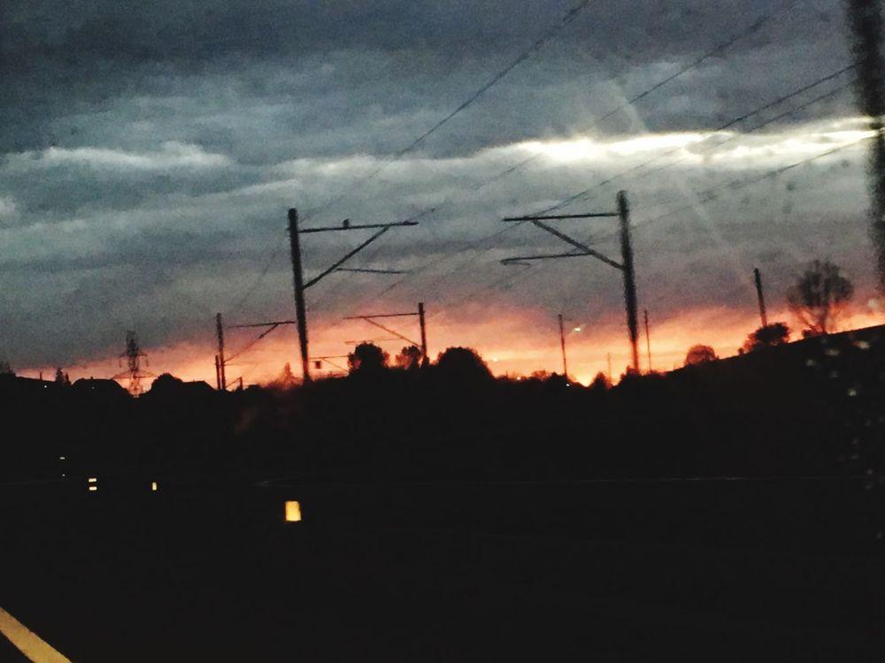 City On Fire Morning Himmel Und Wolken Himmel
