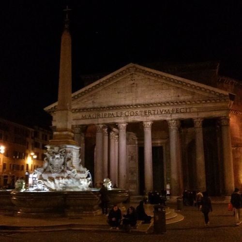 Rome Turism Night City