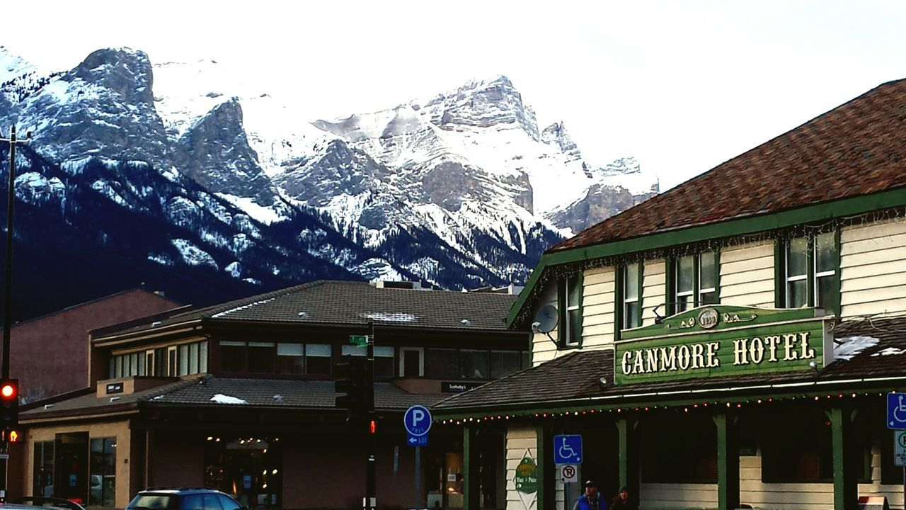 Canmore downtown Canada Canada Canmore Purecanada Mountains Snow Adventure Outdoor Photography Hotel Retro Hotel Log House