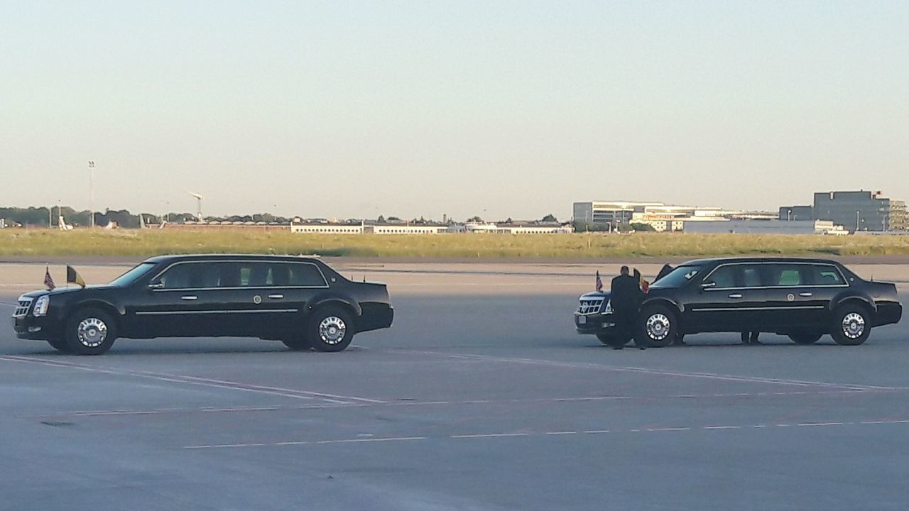 POTUS President USA Bodyguard Presidents President Of The United States Of America USA Photos The Beast Car Driving Transportation Day Sky Outdoors