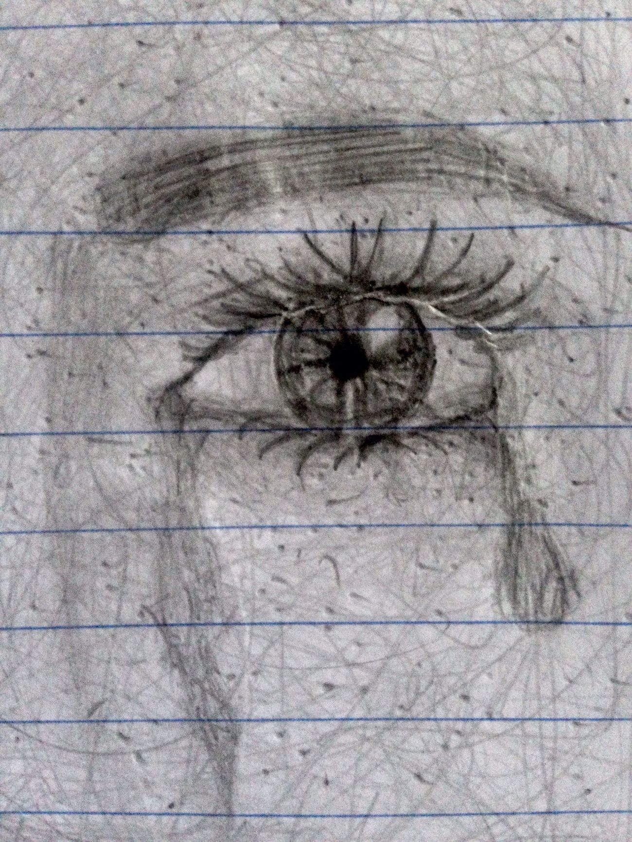 I'm practicing drawing tears... Close-up Drawing Depression Depressed Crying Pencil Tears First Eyeem Photo