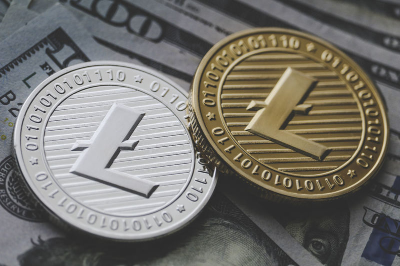 Litecoin Cryptocurrency CryptoCoin Litecoin Currency New Technologies Blockchain Indoors  Time Clock Face Roman Numeral