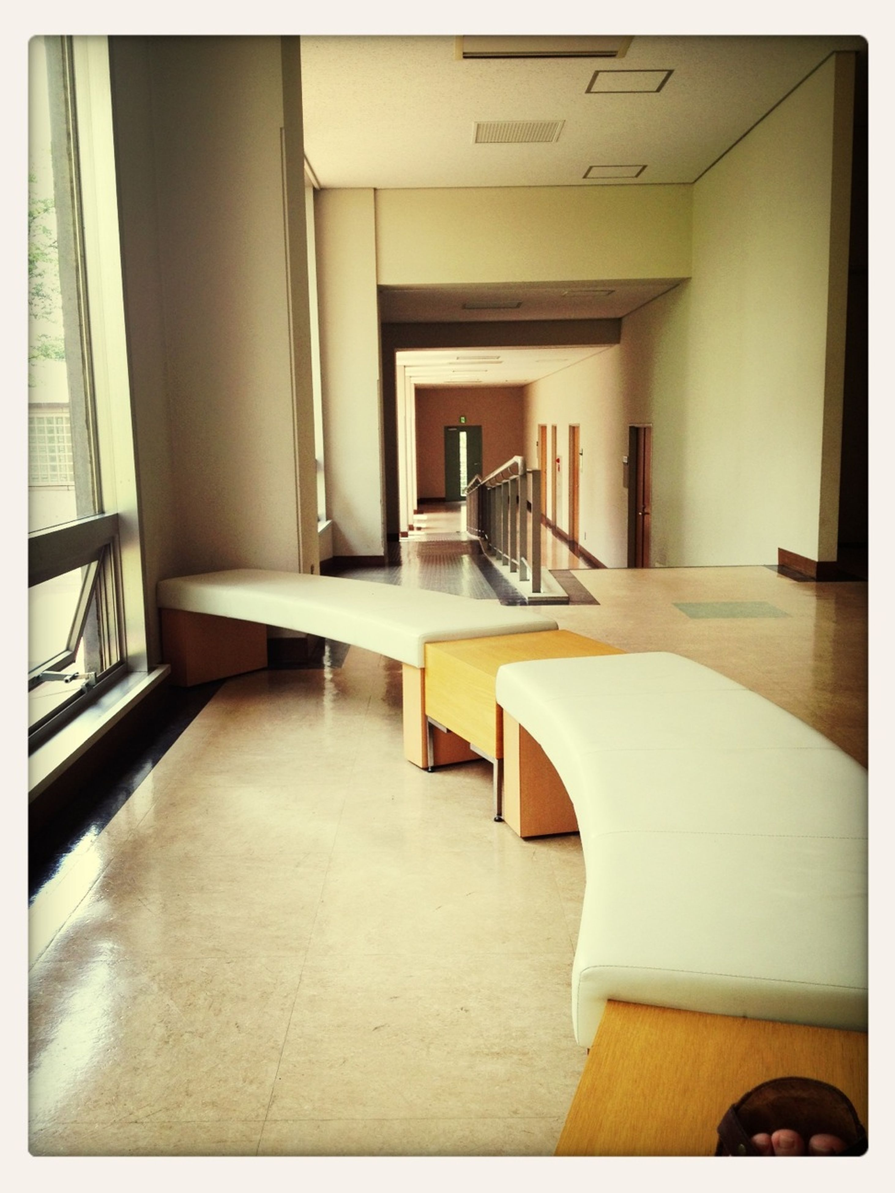 transfer print, indoors, auto post production filter, empty, absence, chair, architecture, flooring, built structure, home interior, table, tiled floor, house, no people, furniture, door, sunlight, seat, floor, hardwood floor