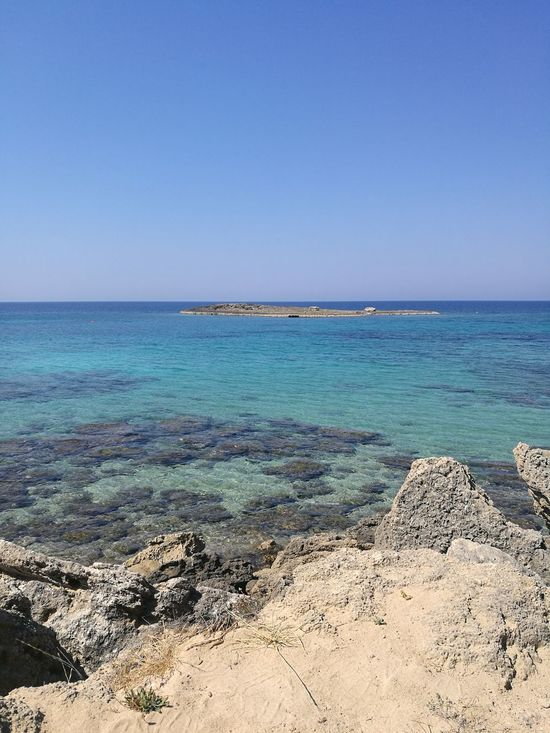 Beach Tranquil Scene Tranquility Nature Blue Beauty In Nature Travel Destinations Salento