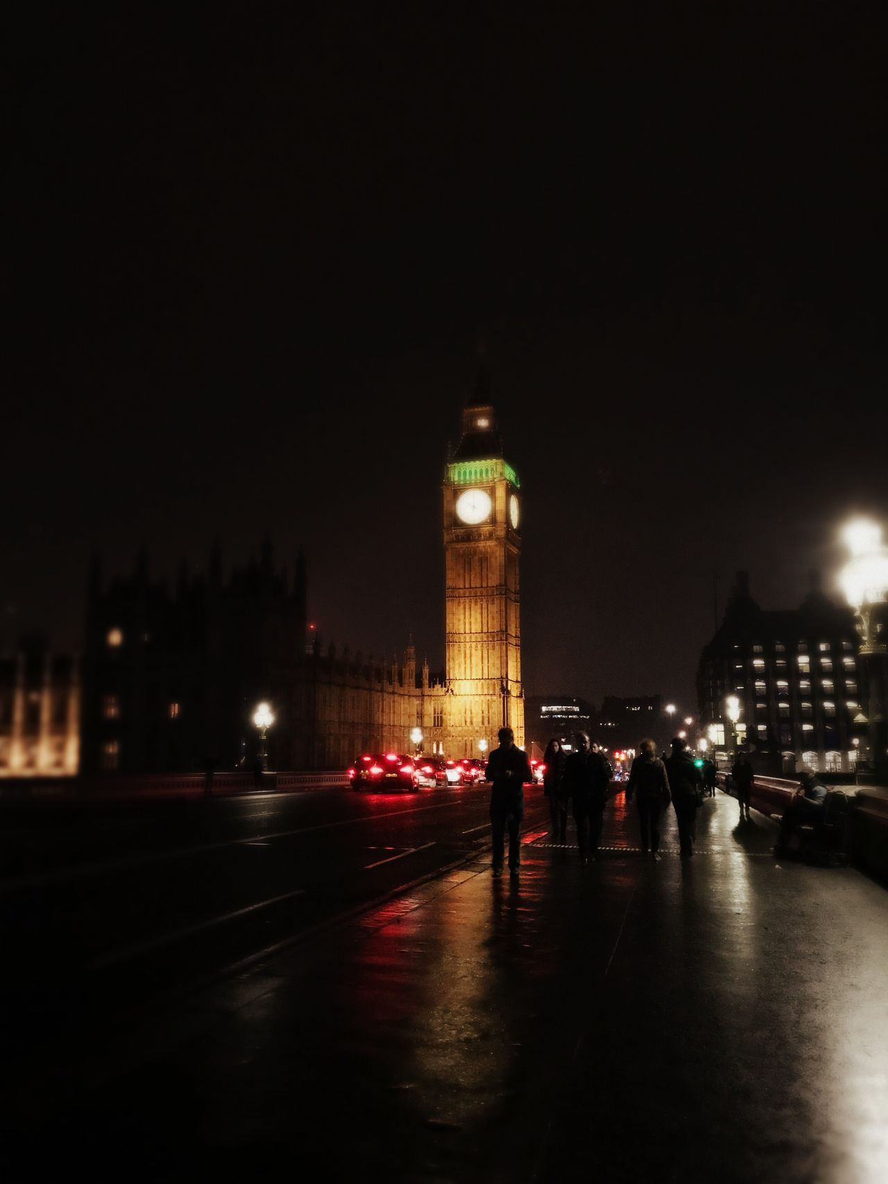 Night Architecture Illuminated Travel Destinations Travel Transportation Tourism City Road Clock Tower Car Built Structure London Big Ben Land Vehicle First Eyeem Photo