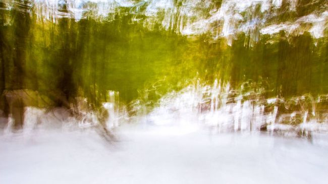 View from a sled. Abstract Icm Intentional Camera Movement Impressionism Blur Blurry