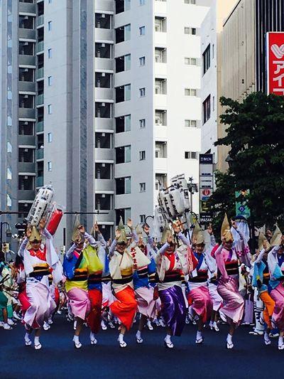 """神奈川大和阿波おどり 総踊りシーン Summer festivals , Yamato , Kanagawa """"AwaOdori"""" in Japan.Meaning of the """"Odori"""" is dance."""
