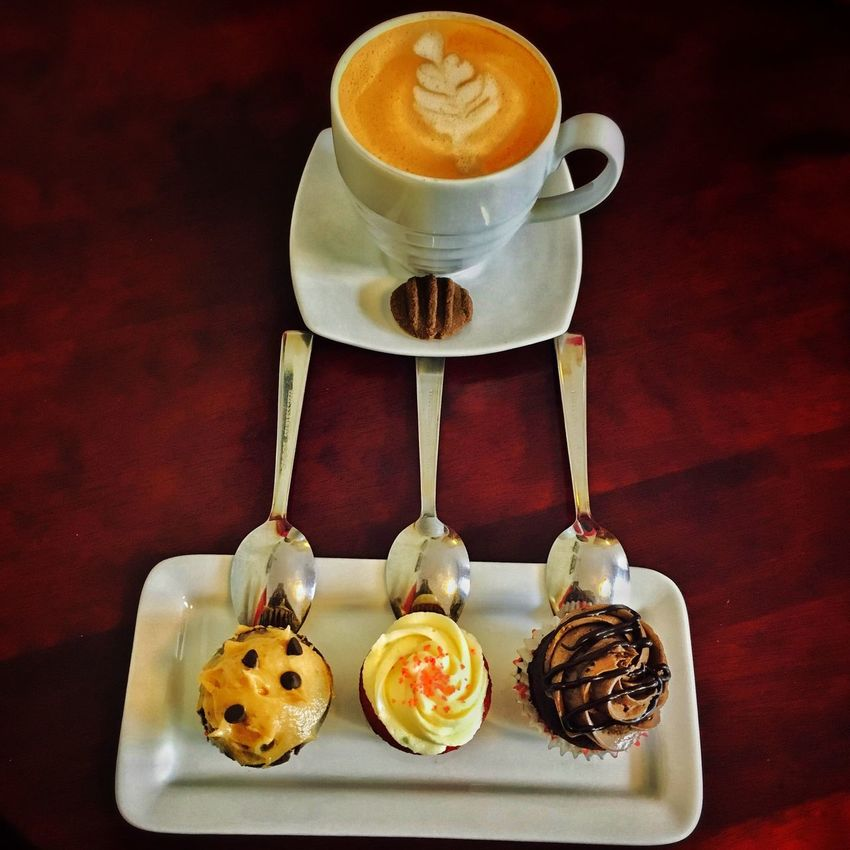Visual Feast Coffee Cup Food And Drink Coffee - Drink Drink Table Refreshment Freshness Saucer Indoors  No People Cappuccino Frothy Drink Food Dessert Close-up Latte Froth Art Sweet Food Ready-to-eat Day Istiak Karim Cupcakes Minicupcake Colorful