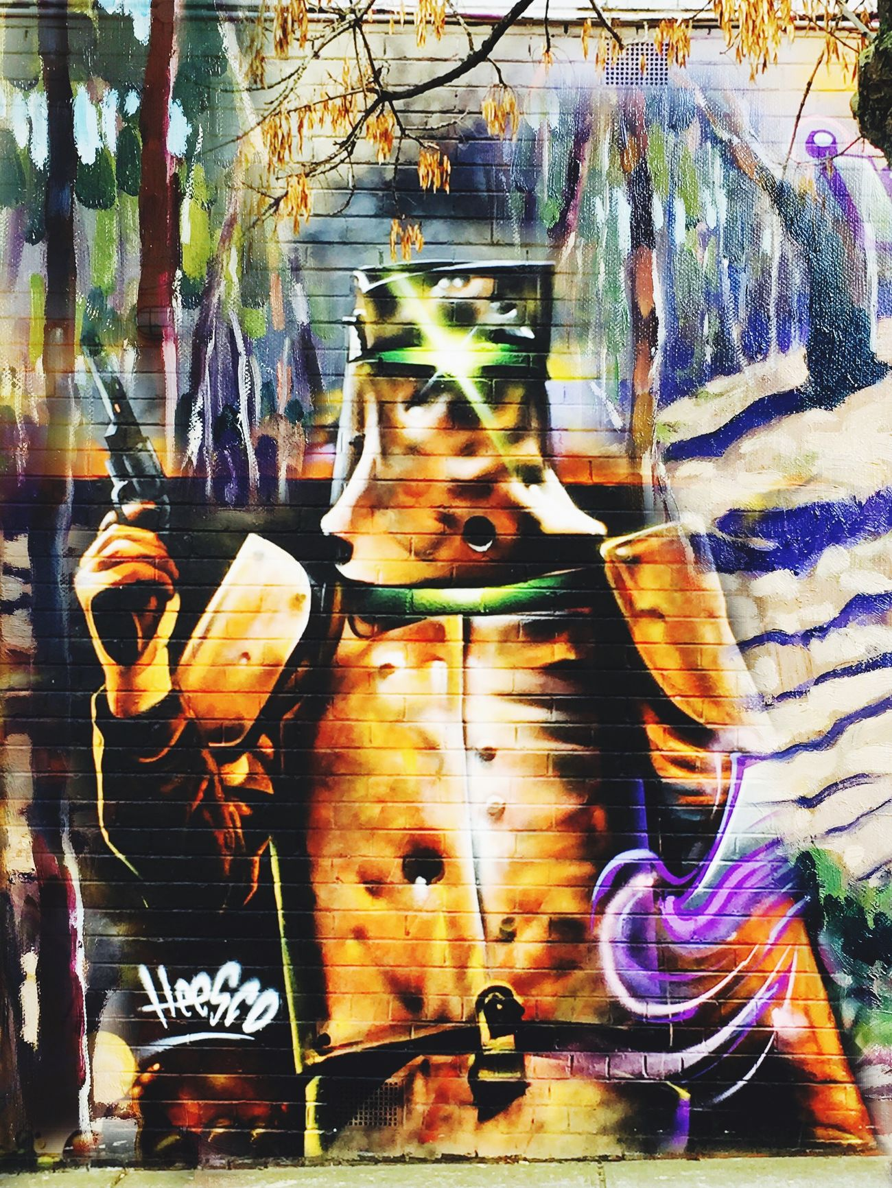 Photographic Approximation Ned Kelly Streetart/graffiti by Hesco..,