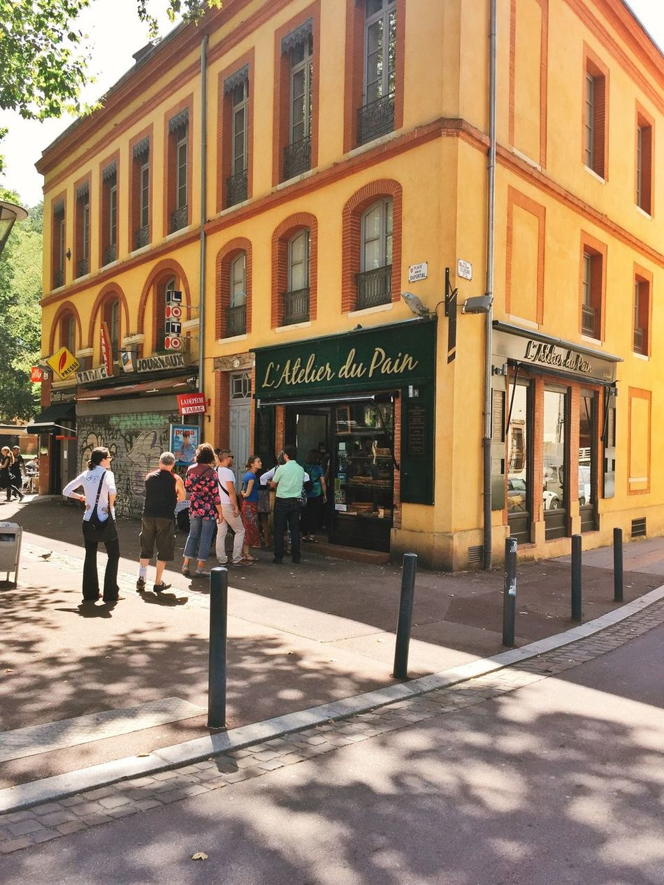 The French love their bread! France Traveling Toulouse Architecture Urban Lifestyle