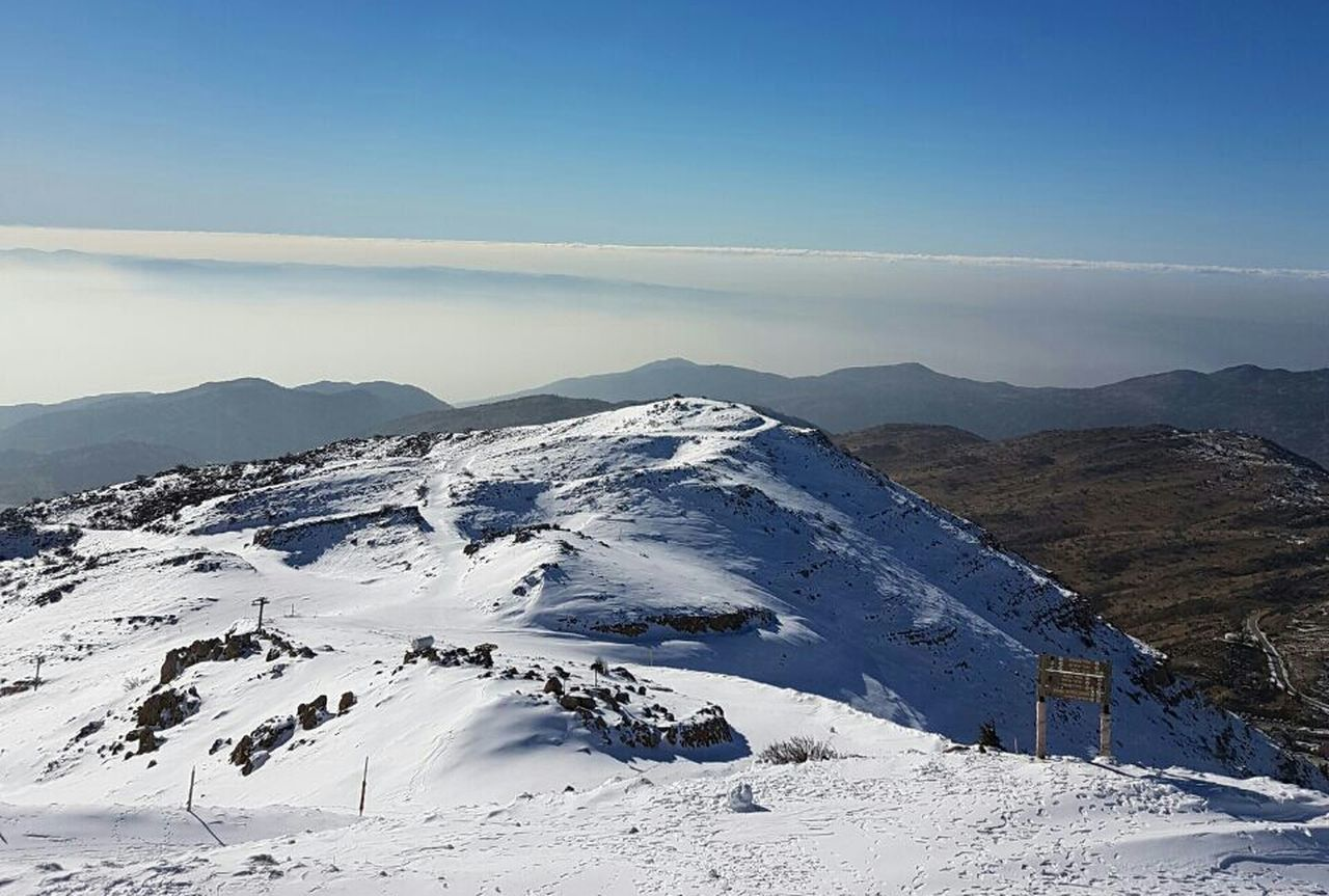 Snow Cold Temperature Beauty In Nature Mountain No People Blue And White Simple Elegance Winter 2016/2017 Finding New Frontiers North Israel