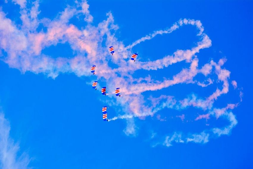 """wheel back round for one more pass"" Sunderland Air Show 2014 Air Show Parachutes Taking Photos"