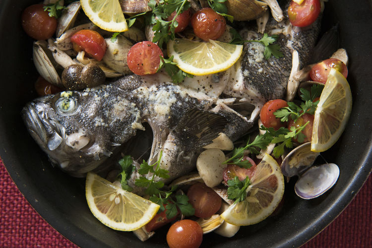Aqua Pazza Color Colorful Cooking Delicious Dinner Fish Food Food And Drink Freshness Good Taste Healthy Eating Italian Food Lunch Ready-to-eat Tomato White Wine Wine