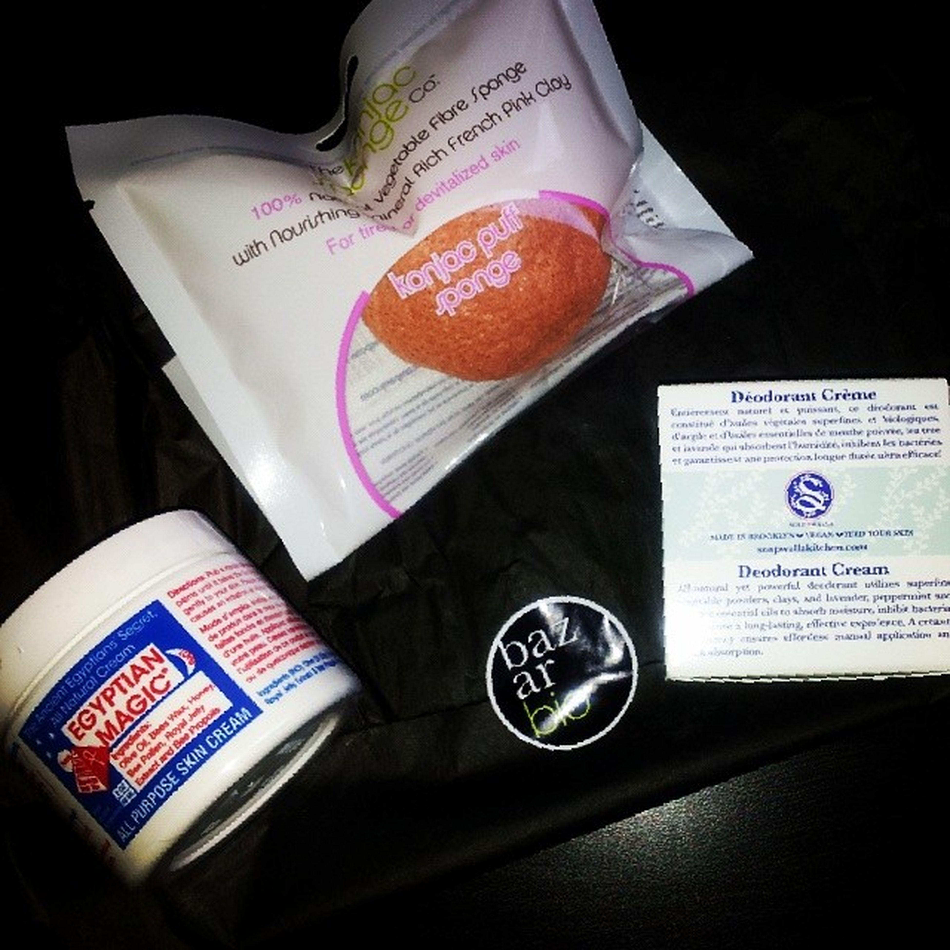 Commande @bazar_bio reçue ! Skincare Bio Egyptianmagic Konjacsponge soapwalla bazarbio
