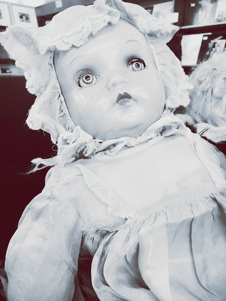 Creepy Creepy Dolls Doll Photography Treasure Fleamarket Old Toys Focus On Foreground Innocence Time Passes By