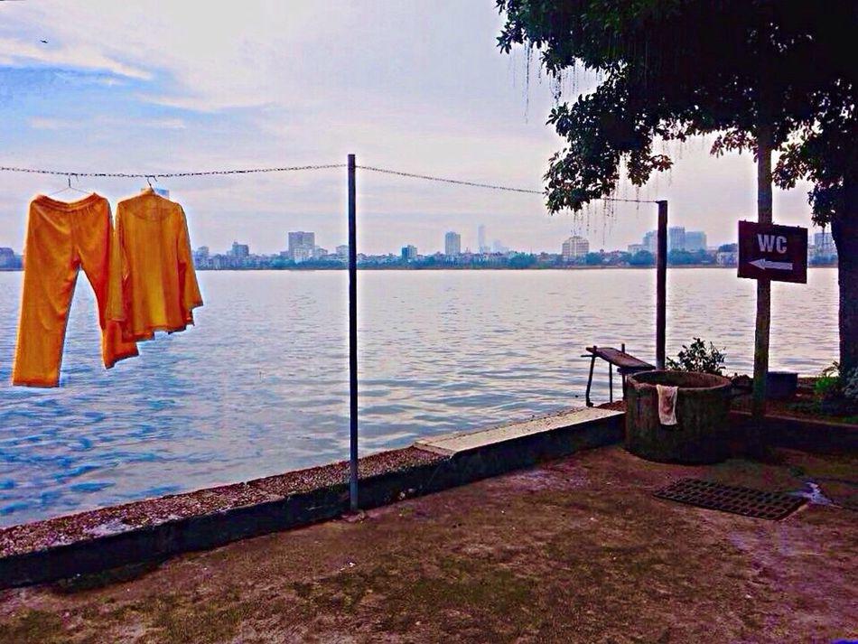 Hanging Out Tây Hồ Hanoi, Vietnam Monks Trou Washing Line Amateur Photography Vietnam