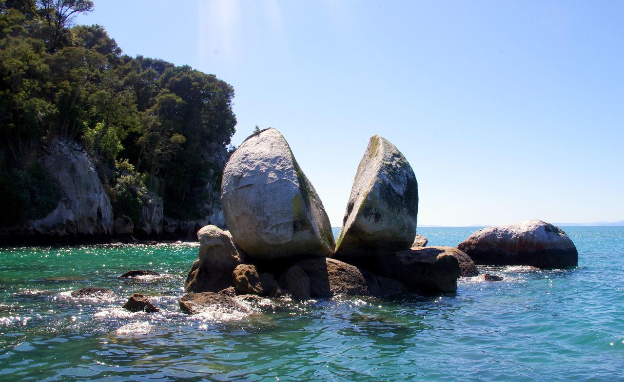Abel Tasman National Park Golden Bay Newzealand Sea South Island Split Apple Rock Tasman Bay Traveling Water