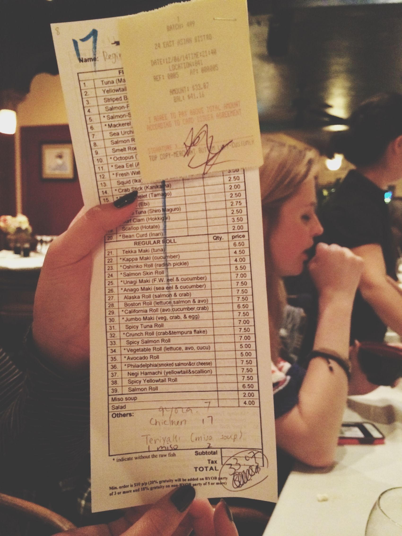 stefs total and her signature. so outrageous Ayeeee Must Be Da Monayyyy