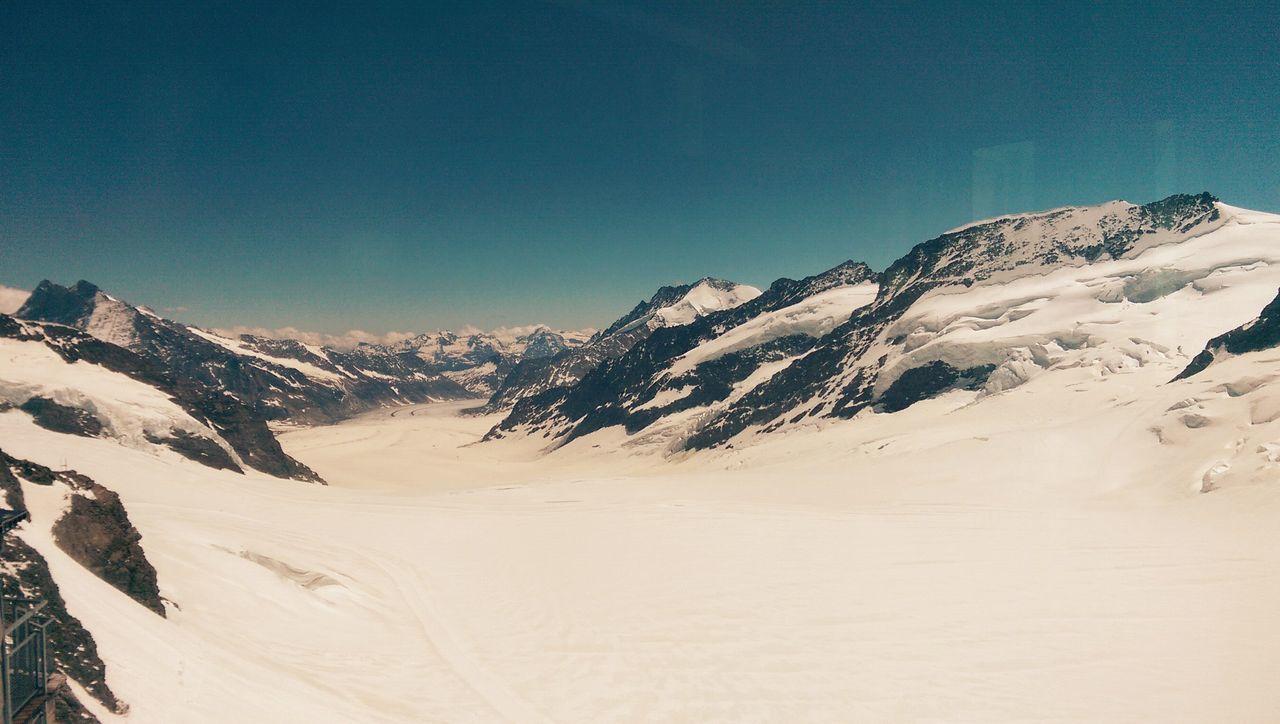 Enjoying The Sun Excercising Glacier