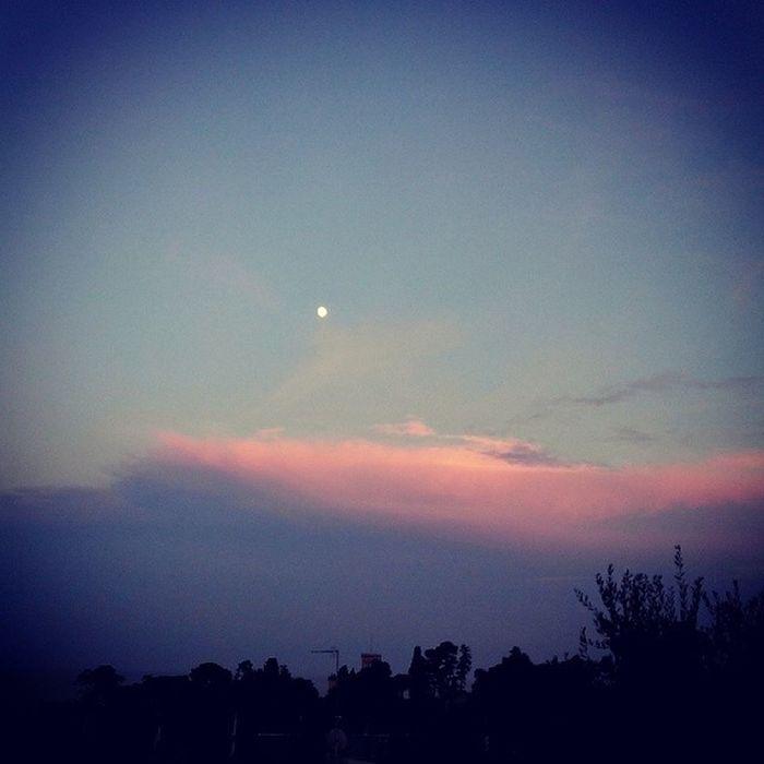 Sunset Moon Tagsforlikes Tflers pretty beautiful red orange pink sky nature clouds horizon photooftheday instagood gorgeous warm view night silhouette instasky all_sunsets